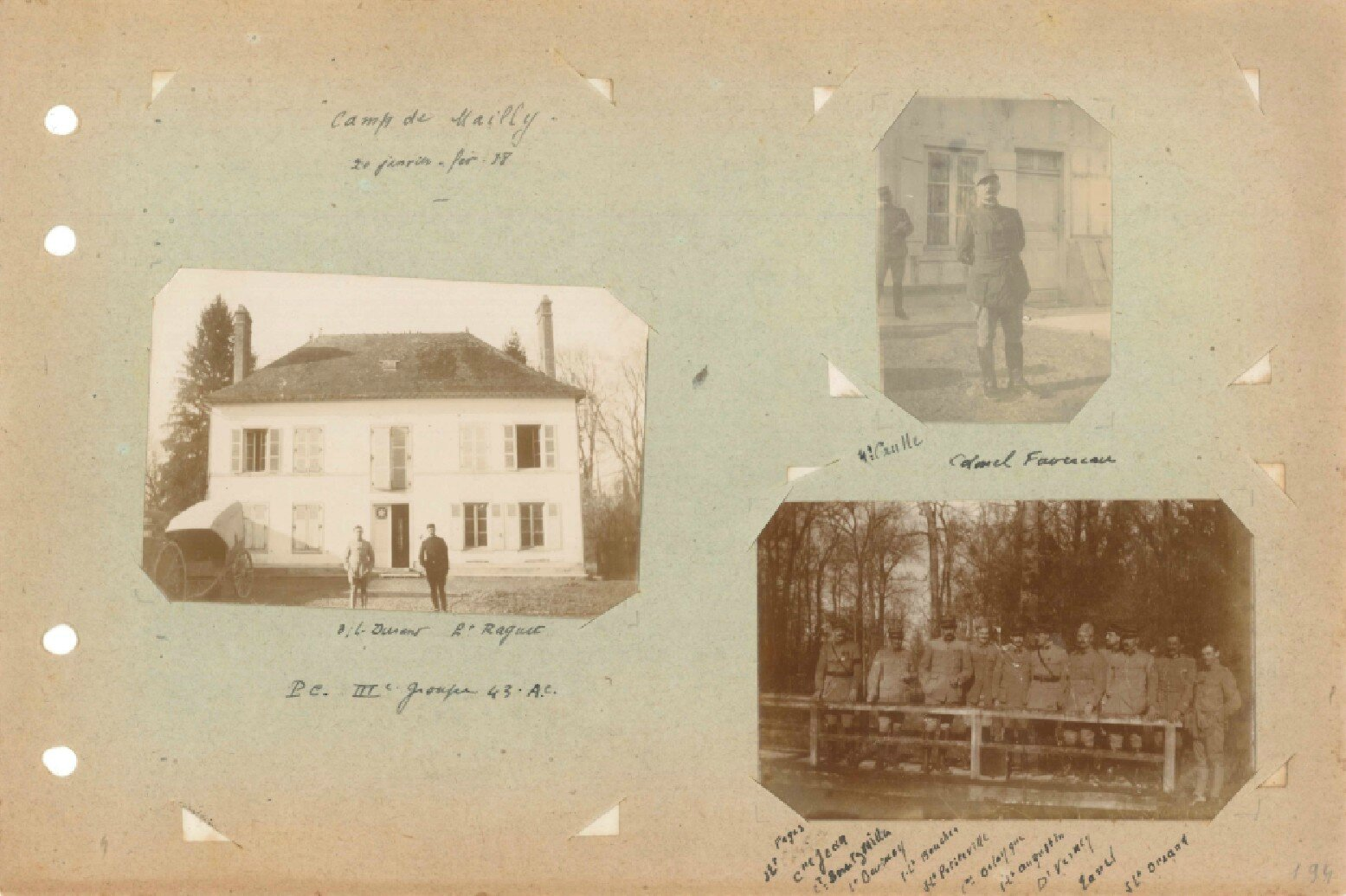 p.194 Secteur de Champagne 43e RAC (18 janvier - 14 mars 1918)