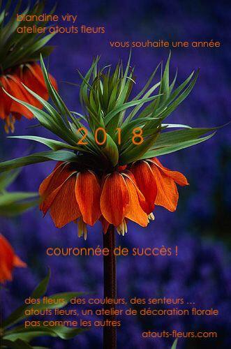 VOEUX 2018 ATOUTS FLEURS