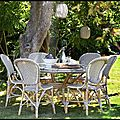 Chaise bistrot rotin - table bistrot rotin - collection affaire - sika design
