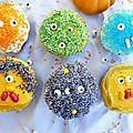 Cupcake monstres,mon halloween rigolo (parce qu'on ne se refait pas...)