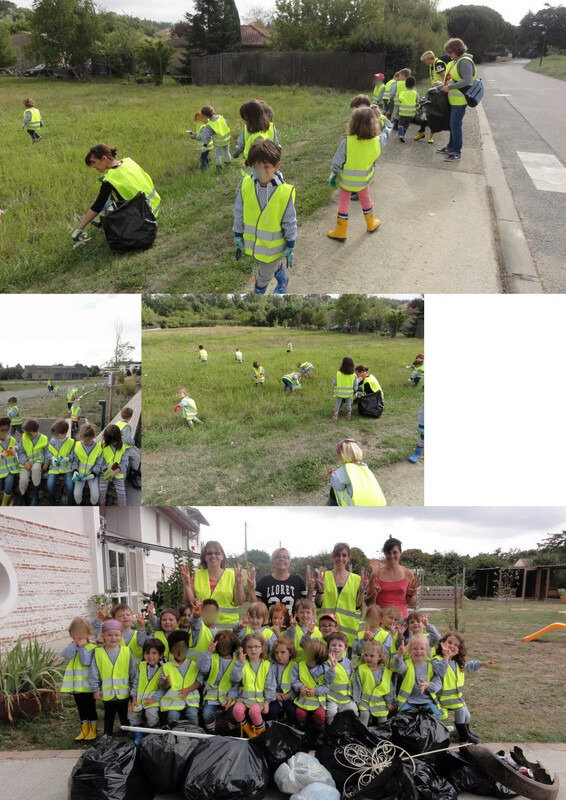 World cleanup day! BRAVO les enfants!