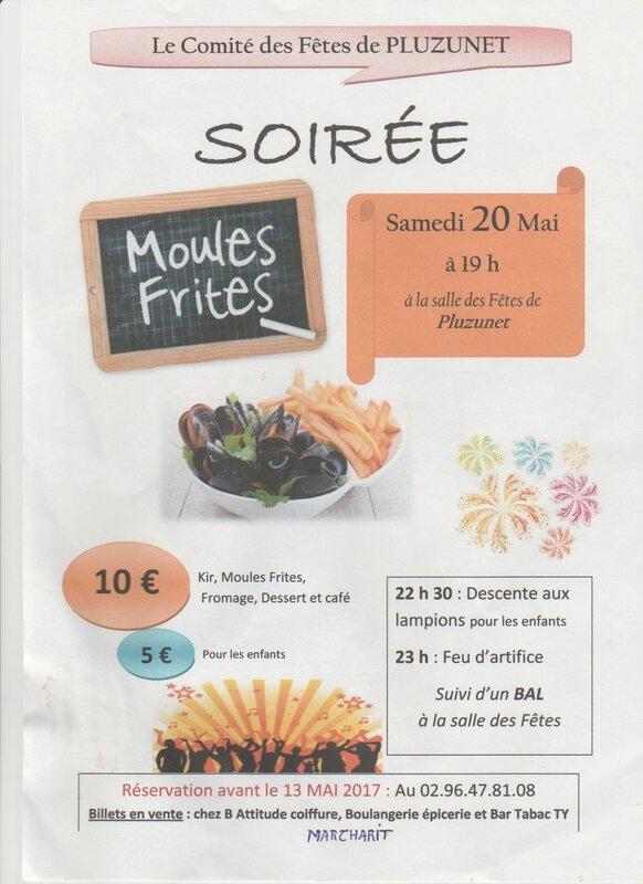Affiche moules frites du 20 mai 2017