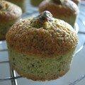 Minis financiers imitation muffins à la pistache