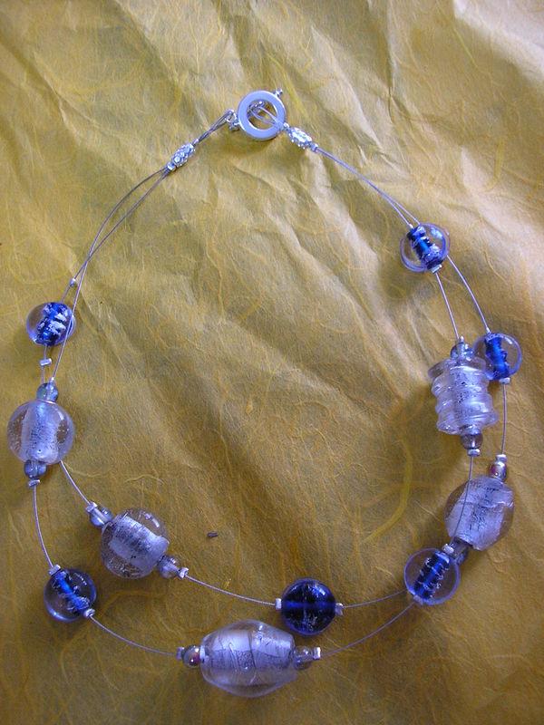 collier anthracite bleu