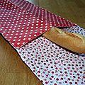 41. sac à pain rouge à pois - doublure pommes