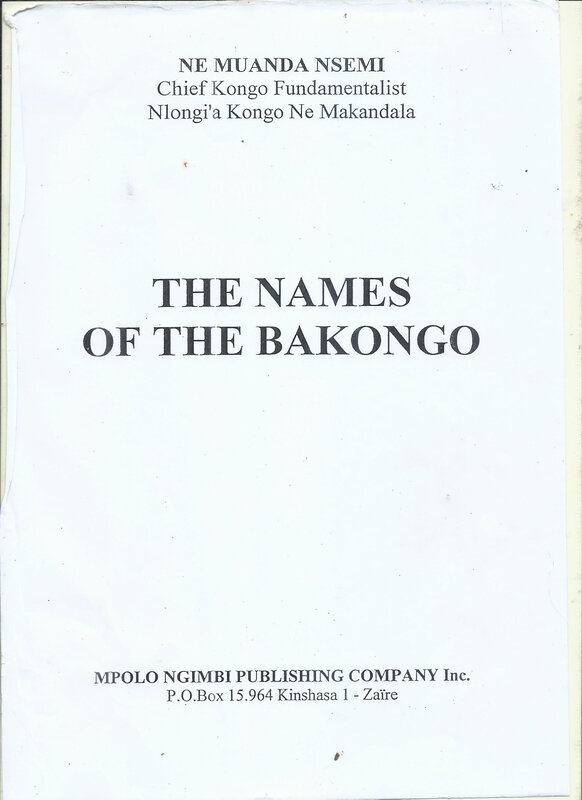 NAMES OF BAKONGO 1