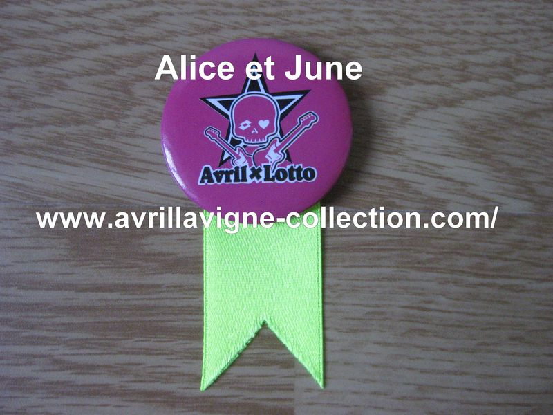 AvrilxLotto product - Badge promotionnel