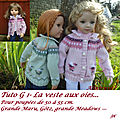 Tutos pour poupées 50 à 55cm Maru, Götz, Meadows