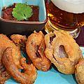 Tempura d'oignons rouge à la bière