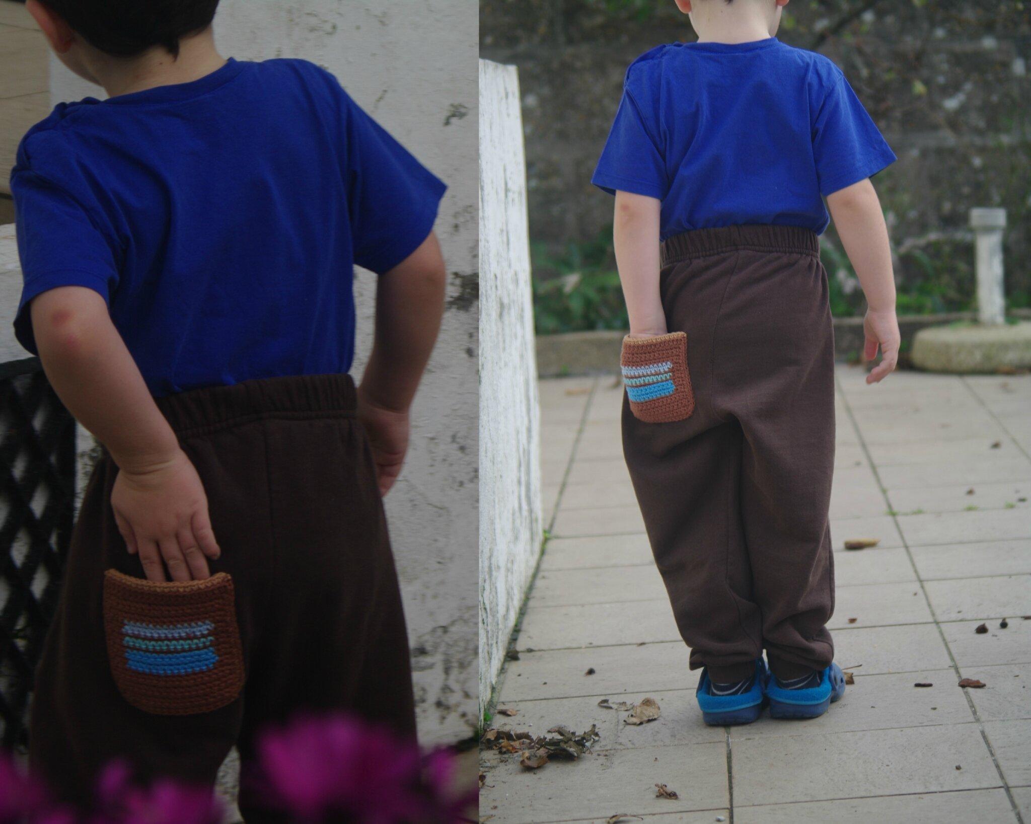 poche pantalon au crochet