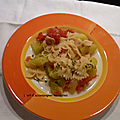 One pot pasta tomate courgette