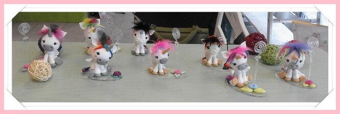 atelier Licornes en porcelaine froide