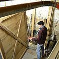 CAP ébéniste,FORMATION ébéniste CHARENTE,PROJET ET étude de fabrication d un portail 1950