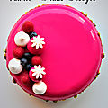 Entremets cream cheese vanille fruits rouges