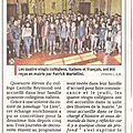 Echanges inter colleges :caraglio/chateau-arnoux