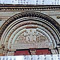 Vezelay - basilique Ste Madeleine - tympan extérieur