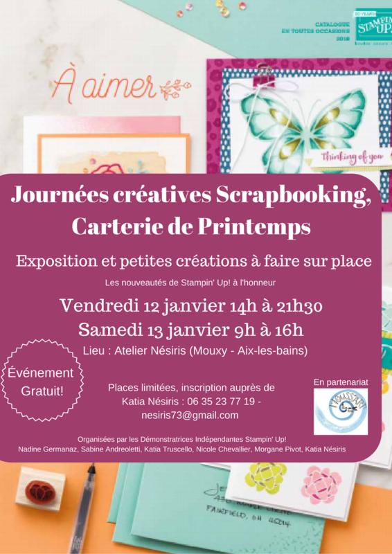 Journées créatives Scrapbooking, Carterie de Katia Nesiris
