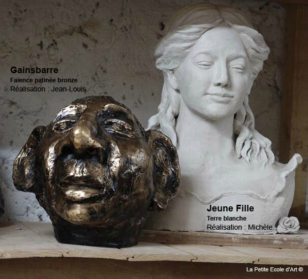 Sculpture buste gainsbarre
