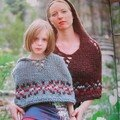 Fair isle Hooded Capelet