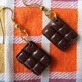gourmandes boucles d'oreille choco (disponible)