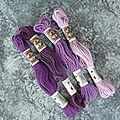 Coton retors mat violet