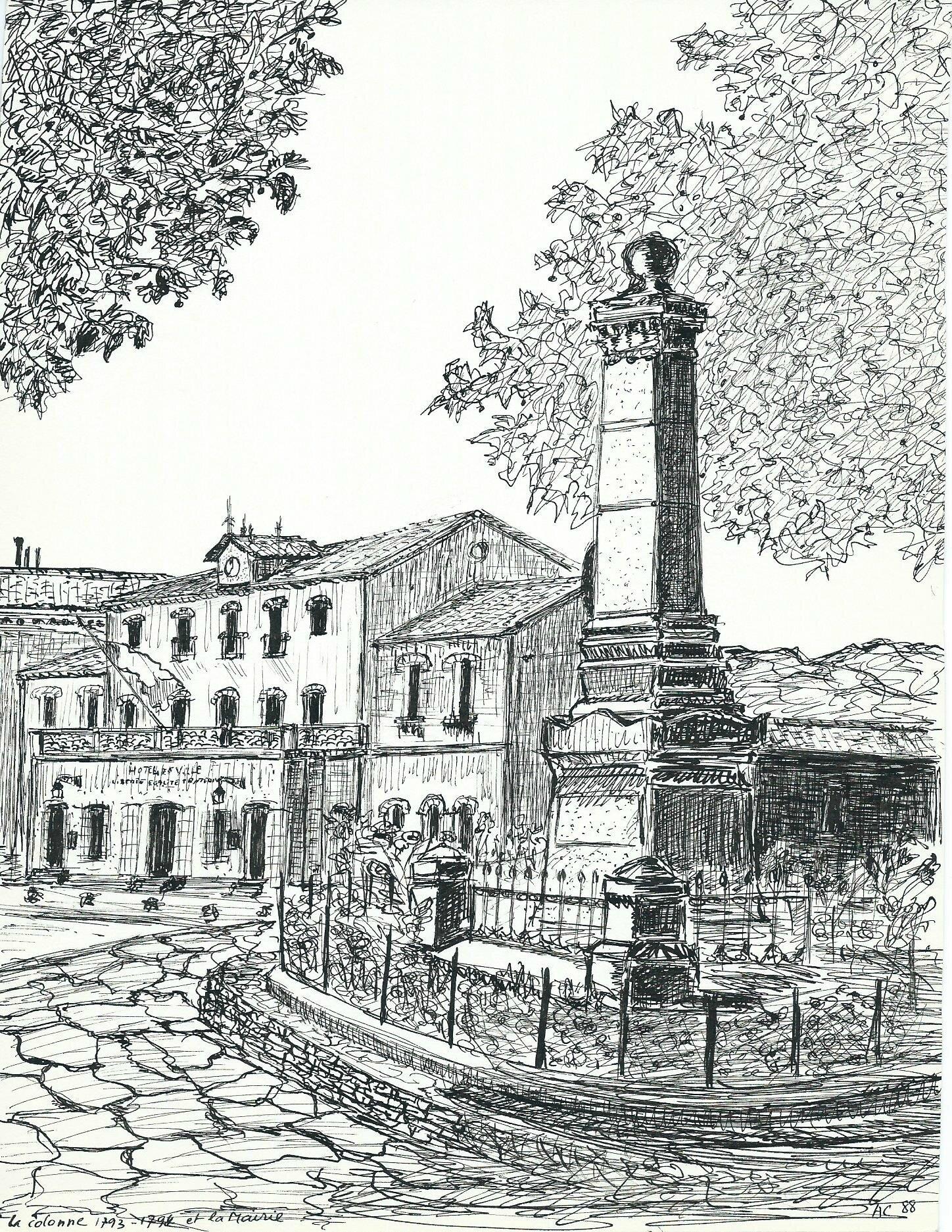 Monument aux morts et mairie