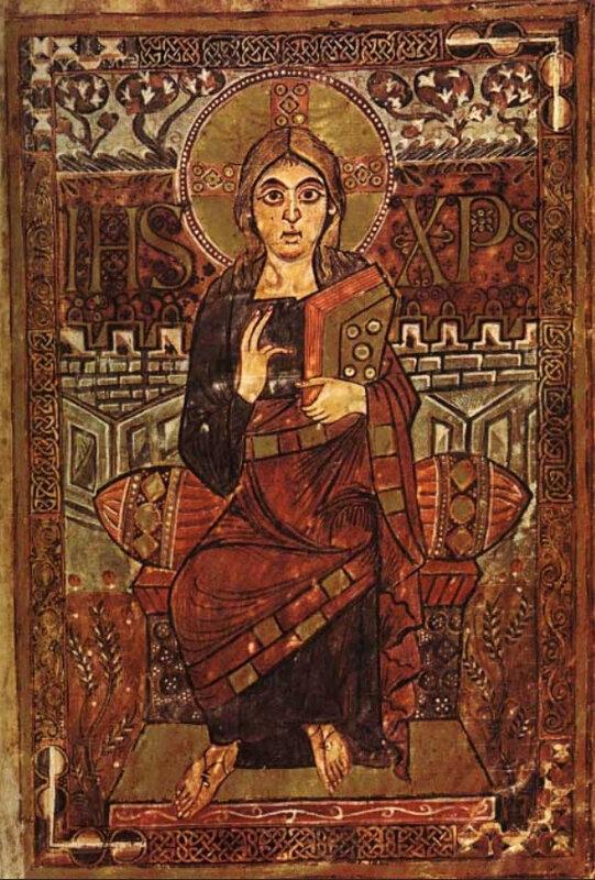 Christ, évangéliaire Godescalc, VIIe s