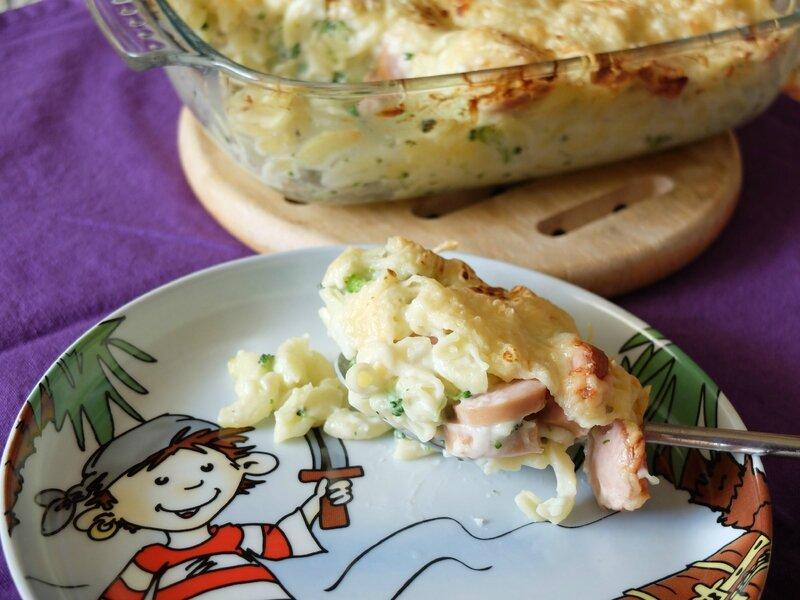 gratin coquilette brocoli