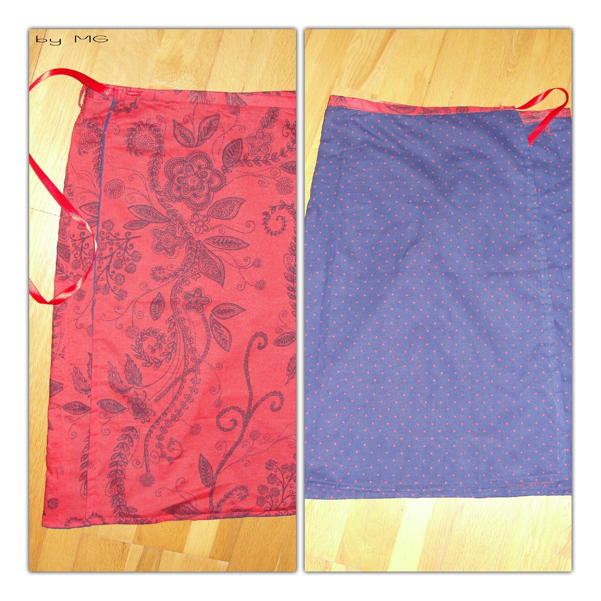 ba066ab9fb487d Ma 1ère jupe portefeuille réversible - Merveilles à Gogo