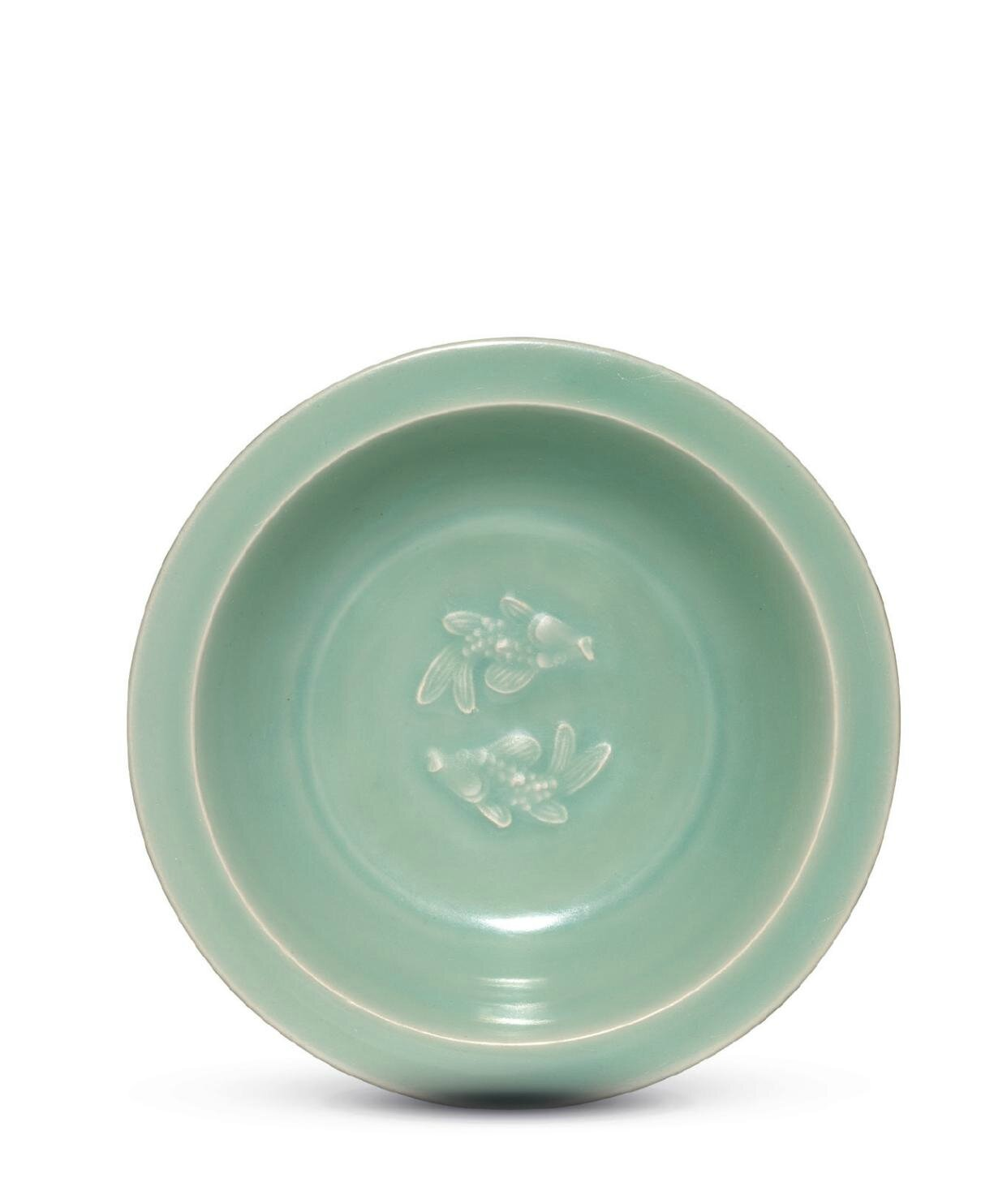 A Longquan celadon, 'Twin Fish' dish, Southern Song Dynasty, 13th Century