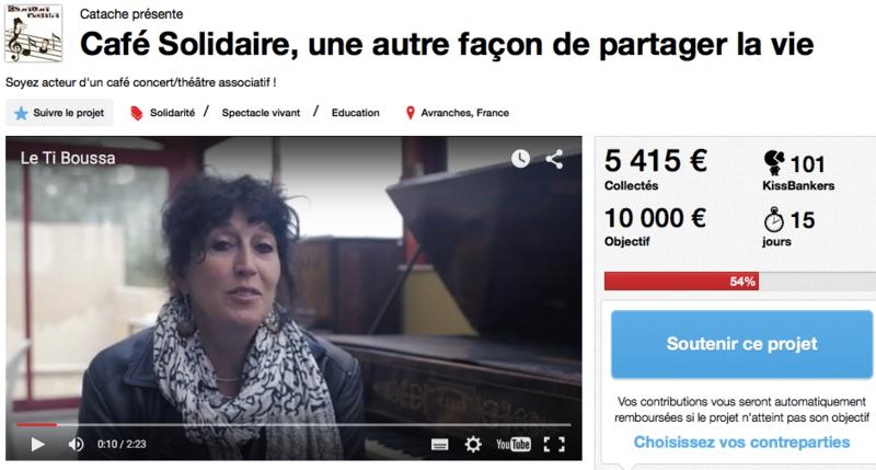 café solidaire le Ti Boussa Avranches kisskissbankbank crowfunding financement participatif
