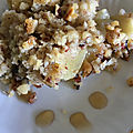 Crumble de granny smith à la noisette de cyril lignac