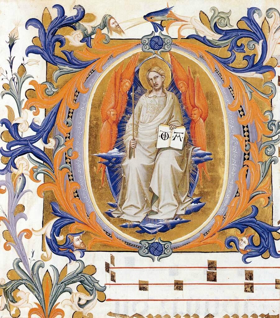 1396 Lorenzo MONACO : Enluminure - antiphonaire du couvent S Maria degli Angeli