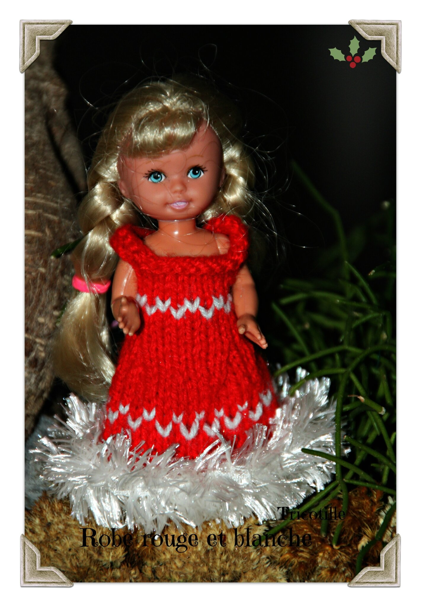 Robe rouge et blanche (shelly)