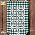 Broderie suisse : bannière sampler