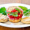 Muffins au lard et haricots blancs sauce tomate