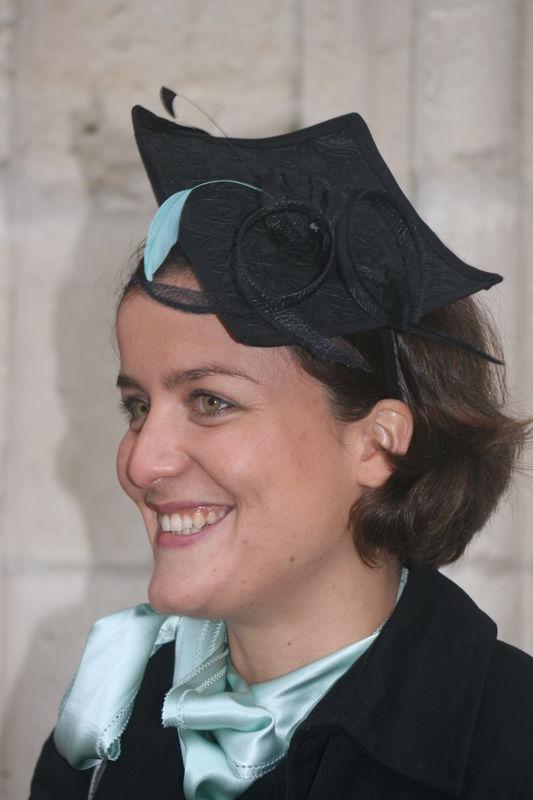 Melisse - Cuir noir relief fleur et vert d'eau