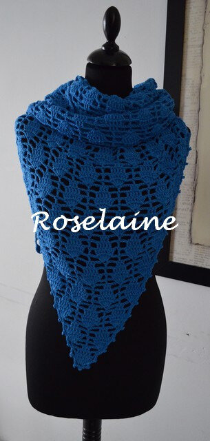 Roselaine Lime Pickle scarf 2