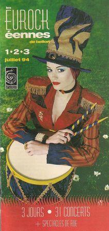 Programme Eurockéennes 1994 001