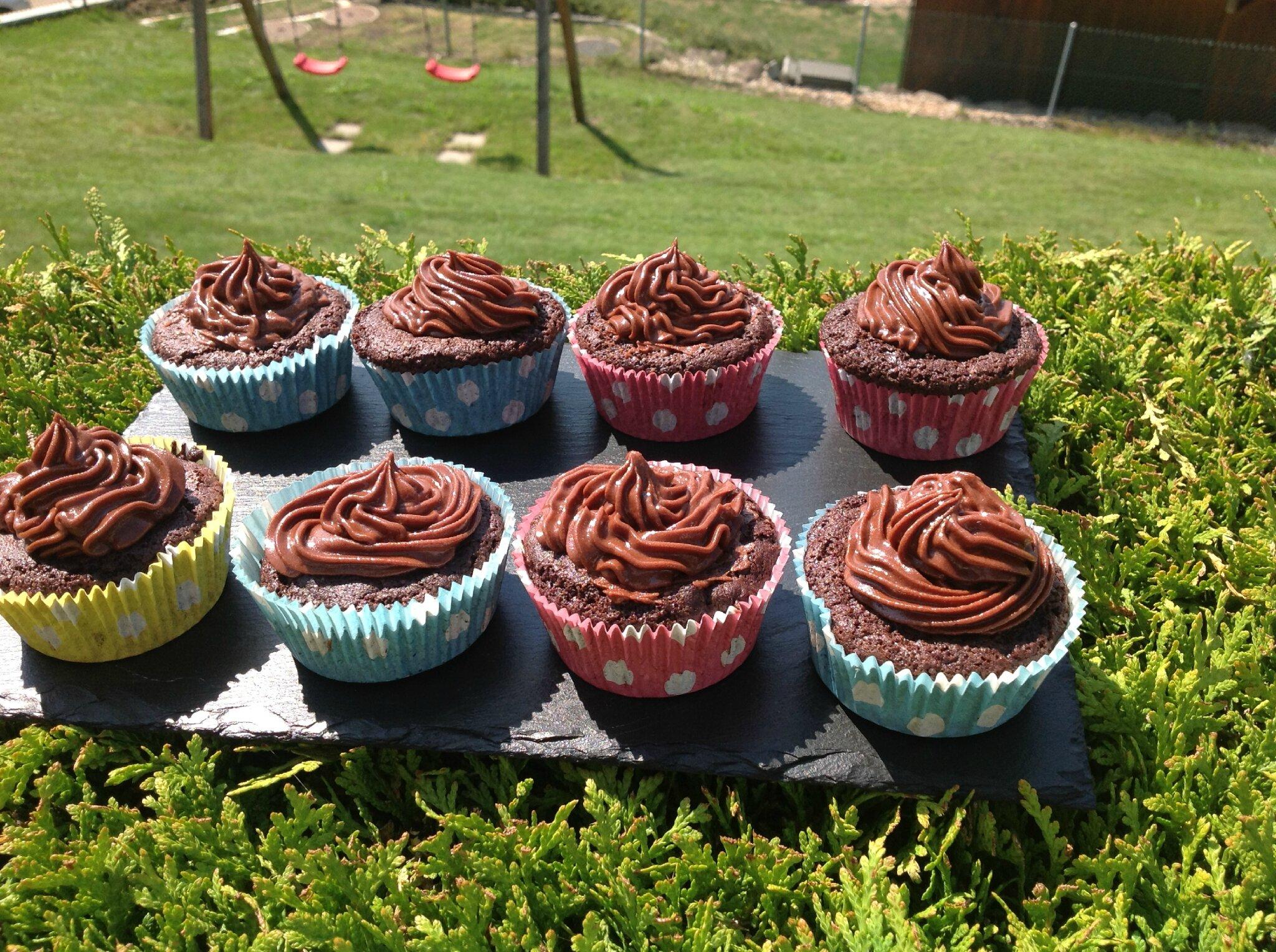 Cupcakes tout chocolat (s.gluten)(s.caséine)