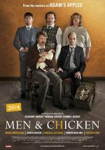 men and chicken