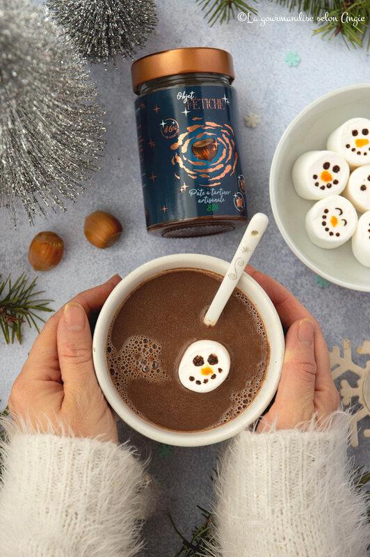 chocolat chaud express a la pate a tartiner noel chamallow bonhomme de neige 1 (1)