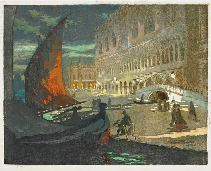 'The Ducal Palace', Venice (1911), Charles H Mackie