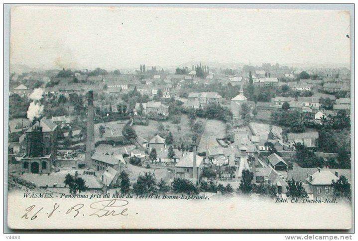 Wasmes - panorama terril bonne-Espérance - carte postale