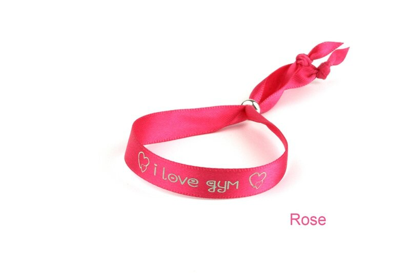 bracelet satin gym rose