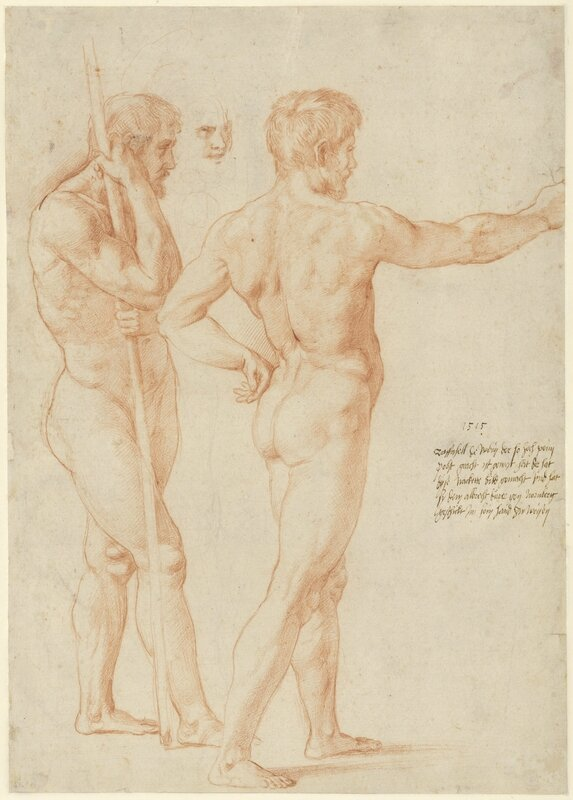 Two_Studies_of_Male_Nudes_1515
