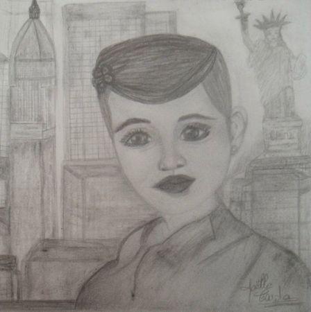 dessin de Joëlle Carda New york city