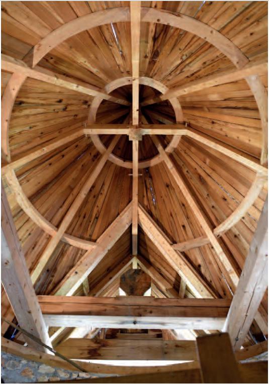 Le toit vu de l'intérieur