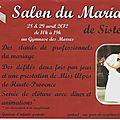 LE SALON DU MARIAGE 2012 à SISTERON
