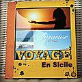 Mini album voyage en sicile # dt la malle aux fleurs